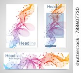 set flyer  brochure size a4... | Shutterstock .eps vector #788607730