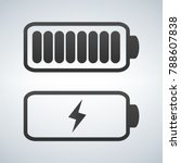 vector battery icon. charge... | Shutterstock .eps vector #788607838