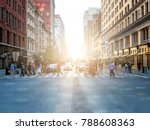 crowd of anonymous people... | Shutterstock . vector #788608363
