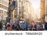sunlight shines on the... | Shutterstock . vector #788608420