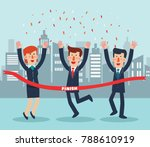 young  successful business... | Shutterstock .eps vector #788610919