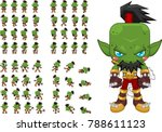 animated orc character for... | Shutterstock .eps vector #788611123