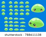 animated slime creature for... | Shutterstock .eps vector #788611138