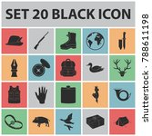 hunting and trophy black icons... | Shutterstock .eps vector #788611198