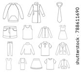 different kinds of clothes...   Shutterstock .eps vector #788611690