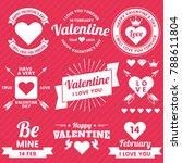 valentine template banner... | Shutterstock .eps vector #788611804