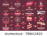 valentine template banner... | Shutterstock .eps vector #788611810