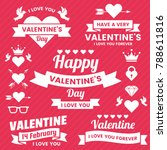 valentine template banner...   Shutterstock .eps vector #788611816