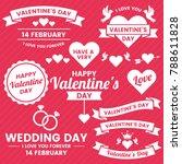valentine template banner... | Shutterstock .eps vector #788611828