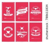 valentine template banner... | Shutterstock .eps vector #788611834