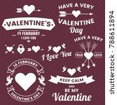 valentine template banner... | Shutterstock .eps vector #788611894