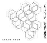 hexagonal geometric background. ...   Shutterstock .eps vector #788612824
