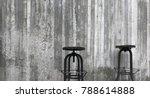 vintage wooden bar stool... | Shutterstock . vector #788614888