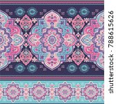 indian rug paisley ornament...   Shutterstock .eps vector #788615626
