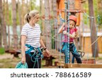 female instructor helps the... | Shutterstock . vector #788616589