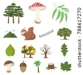 forest and nature cartoon icons ... | Shutterstock .eps vector #788617270