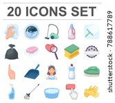 cleaning and maid cartoon icons ... | Shutterstock .eps vector #788617789