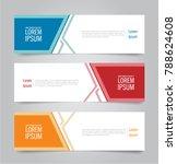 set of modern colorful banner... | Shutterstock .eps vector #788624608