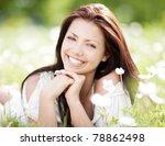 Beautiful Young Brunette Woman...