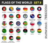 all flags of the world set 8 ....   Shutterstock .eps vector #788632063