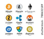 worldwide crypto currency...   Shutterstock . vector #788632189