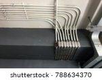 blur the indoor wiring duct. | Shutterstock . vector #788634370