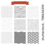 outline waves  geometrical... | Shutterstock .eps vector #788636344