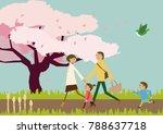 spring landscape. image of... | Shutterstock .eps vector #788637718