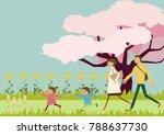 spring landscape. image of... | Shutterstock .eps vector #788637730