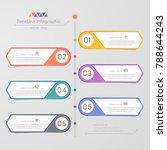 timeline infographics design... | Shutterstock .eps vector #788644243