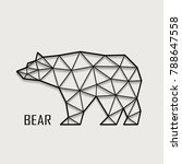 figure of a bear from polygons... | Shutterstock .eps vector #788647558