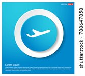 airplane icon abstract blue web ...