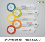 5 steps infographics element... | Shutterstock .eps vector #788653270
