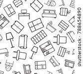 furniture seamless pattern... | Shutterstock .eps vector #788654890