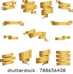 gold labels stickers banners... | Shutterstock .eps vector #788656438