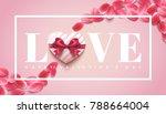 valentine's day romantic... | Shutterstock .eps vector #788664004