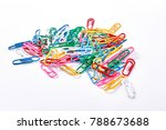 heap of colorful plastic paper... | Shutterstock . vector #788673688