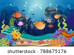 marine habitats and the beauty... | Shutterstock .eps vector #788675176