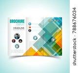 vector illustration of brochure ... | Shutterstock .eps vector #788676034