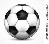 realistic soccer ball  european ... | Shutterstock .eps vector #788678560