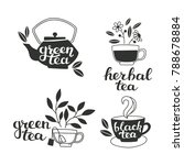 lettering and hand drawn tea... | Shutterstock .eps vector #788678884