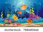 marine habitats and the beauty... | Shutterstock .eps vector #788680666
