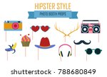 colorful photo booth props icon ... | Shutterstock .eps vector #788680849