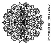 mandalas for coloring book.... | Shutterstock .eps vector #788681020