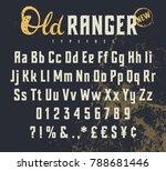 vintage vector alphabet in the...   Shutterstock .eps vector #788681446