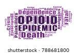 opioid crisis word cloud... | Shutterstock .eps vector #788681800