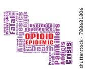 opioid crisis word cloud... | Shutterstock .eps vector #788681806