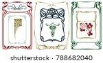 vector plant vignette and...   Shutterstock .eps vector #788682040