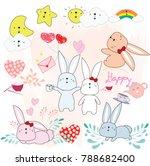 cute sticker of couple baby... | Shutterstock .eps vector #788682400