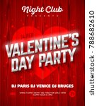 valentine's day party poster... | Shutterstock .eps vector #788682610